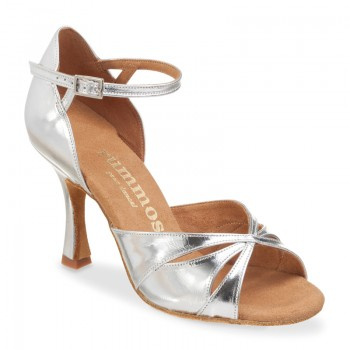 R385 Damen Tanzschuhe Leder silber Absatz 60R Größe 40