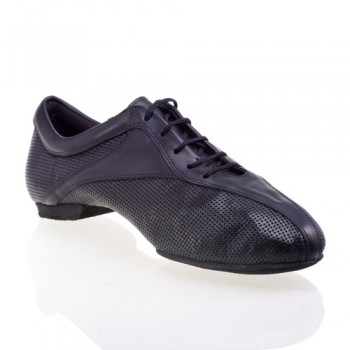 SKY - rummos dance sneaker - gelochtes Leder schwarz / Leder schwarz