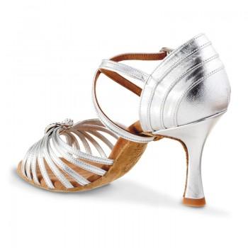 CRISTINA Damen Tanzschuh Leder silber Absatz 70N Größe 35