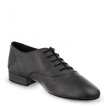 FLEXMAN Herrenschuhe mit flexibler Sohle Leder schwarz Absatz 35M