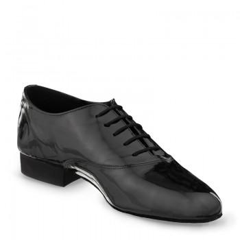 FLEXMAN Herrenschuhe mit flexibler Sohle Lackleder schwarz Absatz 35M Größe 45