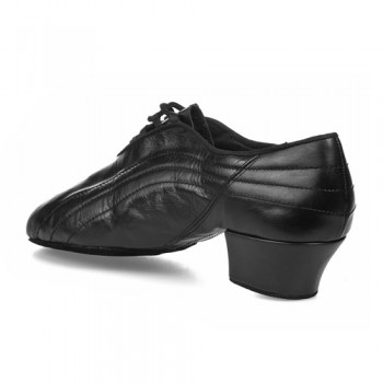 ZEUS Herren Latein Tanzschuhe mit geteilter Sohle Leder schwarz Absatz 45