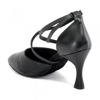 R329 - rummos Tanzschuhe Damen - Leder schwarz