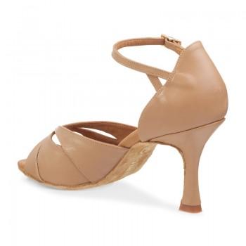 R385 Damen Tanzschuhe Leder nude Absatz 60R Größe 40