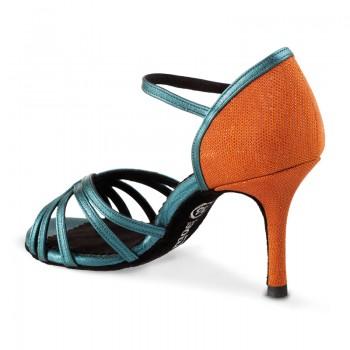 MARYLIN Damen Tanzschuhe Tauro Leder / Leder orange glänzend