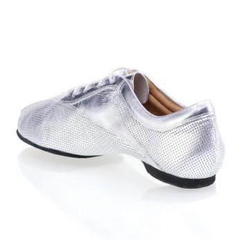 SKY - rummos dance sneaker - gelochtes Leder silber / Leder silber