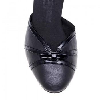 R322  Absatz 40G  Größe 41,5  Leder schwarz und Lackleder schwarz A02