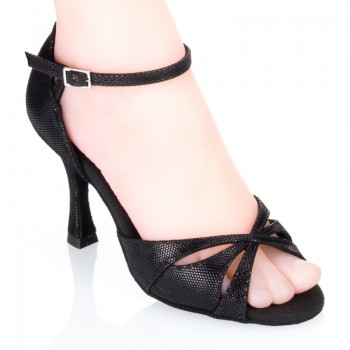 R385 Damen Tanzschuhe Leder schwarz Diva Absatz 60R Größe 37,5