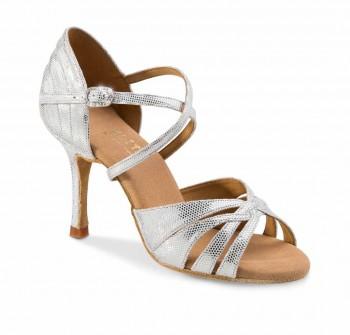 PARIS Damen Tanzschuhe Leder silber Diva Absatz 60R Größe 36,5 C05