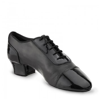 TRIUMPH Herren Latein Tanzschuhe Leder schwarz Lackleder schwarz Absatz 45 Größe 41 geteilte Sohle (split sole) E04