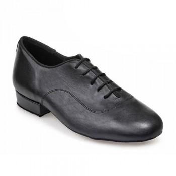 R316 Herren Tanzschuhe Leder schwarz Absatz 25M Größe 39,5 E03