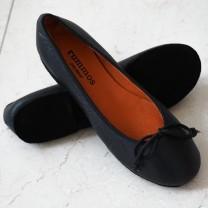 BALLERINA  Absatz 0  Größe 38  Leder schwarz B06