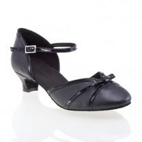 R322 Comfort Tanzschuhe Leder schwarz Lackleder schwarz Absatz 40G Größe 40 A03