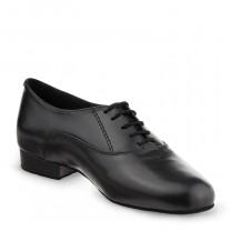 R701 Herren Tanzschuhe Leder schwarz Absatz 25M Größe 38,5 D04