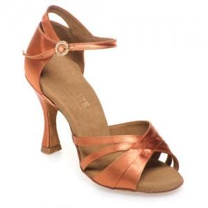 EATH-048 - Athena  rummos Elite luxury collection - Damen Tanzschuhe Satin Haut Dunkel