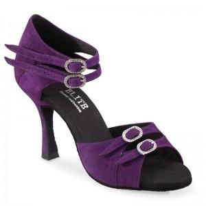 ELENA  Absatz 60R  Größe 36,5  Nubukleder purple