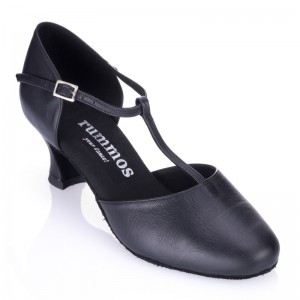 R312 rummos Tanz Schuhe Damen Leder schwarz