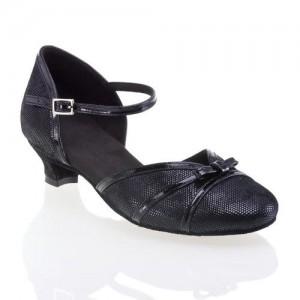 R322 Tanzschuhe mit Comfort Absatz Lackleder schwarz Leder schwarz Diva Absatz 40G Größe 35 B05
