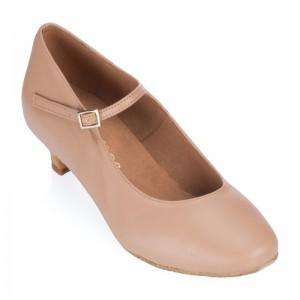 R337-246 Tanzschuhe Damen Standard Leder nude Absätze 40 und 50  50 37