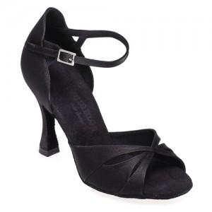 R385 - rummos Tanzschuhe Damen - Satin schwarz