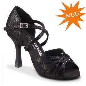 R520 offene Damen Tanzschuhe Leder schwarz Diva