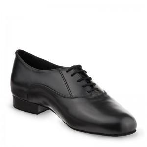 R701-001-25 Tanzschuhe Herren Leder schwarz Absatz 25