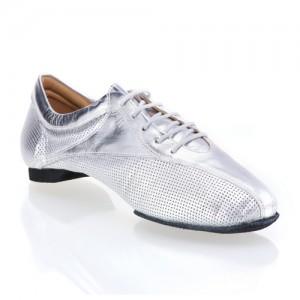 SKY - rummos dance sneaker - gelochtes Leder silber / Leder silber  38,5