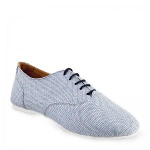 Sals'On Sneaker Stoff blau weiße flache Kunststoffsohle