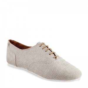 Sals'On Sneaker Stoff beige weiße flache Kunststoffsohle