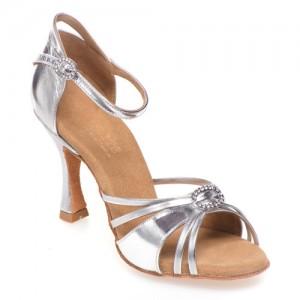 BELLA Damen Tanzschuhe Leder silber Absatz 60R Größe 35,5 A02