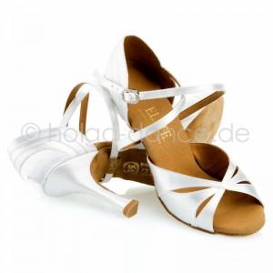 PALOMA Damen Tanzschuhe Satin weiß Absatz 70R Größe 36 A01
