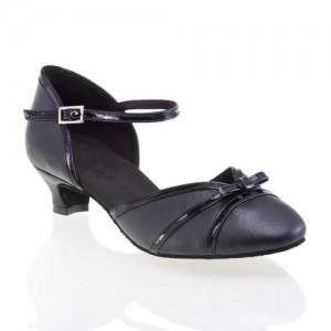 R322 Comfort Tanzschuhe Leder schwarz Lackleder schwarz Absatz 50G Größe 37 C06