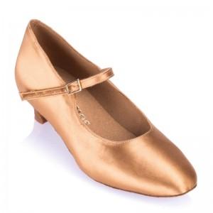 R337 Damen Standard Tanzschuhe Satin haut Absatz 40G Größe 36,5 D04