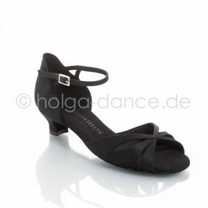 R385 Damen Tanzschuhe Satin schwarz Absatz 40G Größe 45 A02