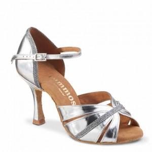 R505 Damen Tanzschuhe Leder silber Glitzer silber Absatz 60R Größe 40 A01