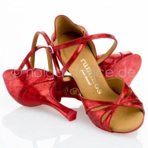 R385 Damen Tanzschuhe Leder rot fantasy Absatz 70N Größe 35 B01