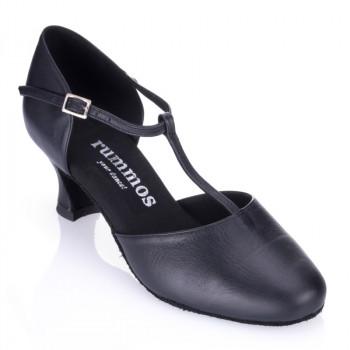 R312 geschlossene Damen Tazschuhe Leder schwarz