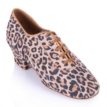 R377 - Damen Trainingschuhe - Leder Leopard