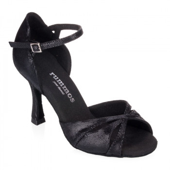 R385 Damen Tanzschuhe Leder schwarz Diva