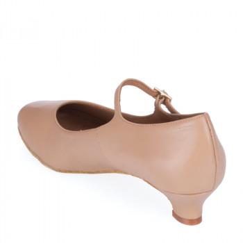 R337-246 Tanzschuhe Damen Standard Leder nude Absätze 40 und 50
