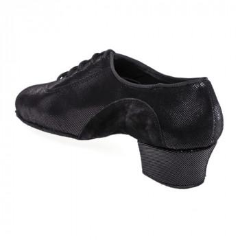 R377 Damen Trainingstanzschuhe Nubukleder schwarz Leder schwarz Diva
