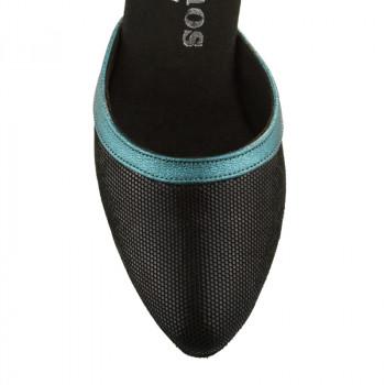 R407 geschlossene Damen Tanzschuhe Leder schwarz Diva und Tauro Leder Absatz 60R Größe 37,5