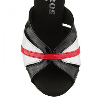 R505 Damen Tanzschuhe Lackleder schwarz und Lackleder weiß