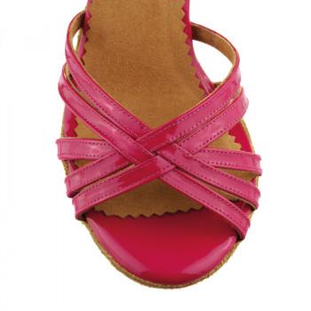 MARYLIN Damen Tanzschuhe Lackleder pink / Leder pink mit Glitzer