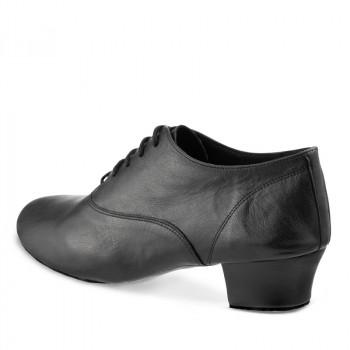 FLEXLATIN Herren Lateinschuhe mit flexibler Sohle Leder schwarz durchgehende Sohle FLEXIBEL