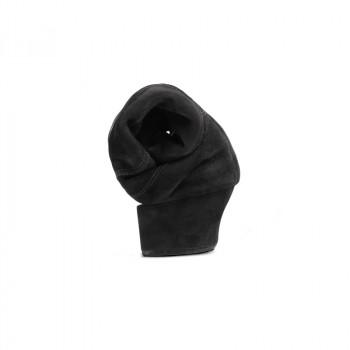 FLEXLATIN Herren Lateinschuhe mit flexibler Sohle Nubukleder schwarz durchgehende Sohle FLEXIBEL