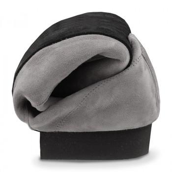 FLEXMAN Herrenschuhe mit flexibler Sohle Nubukleder grau durchgehende Sohle FLEXIBEL