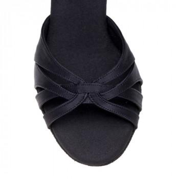 PARIS Damen Tanzschuhe Satin schwarz Absatz 70R Größe 33,5