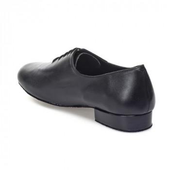 R313 Herren Tanzschuhe Leder schwarz