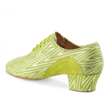 R377 Damen Trainingsschuh geteilte Sohle Nubuklerde grün hell Nubukleder grün mit silber
